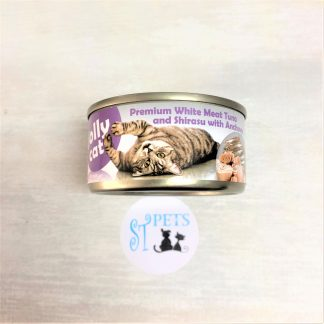 JOLLY CAT PREMIUM 80G WHITE MEAT TUNA and Shirasu with Anchovy