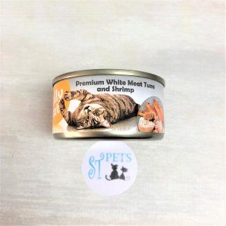 JOLLY CAT PREMIUM 80G WHITE MEAT TUNA and Shrimp